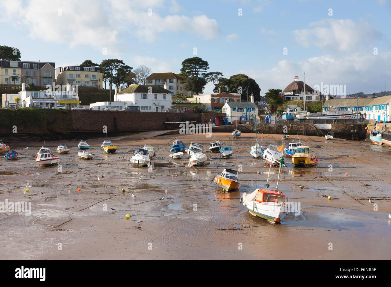 Paignton Hafen Devon England uk bei Ebbe in der Nähe von touristischen Destination Torquay Stockbild