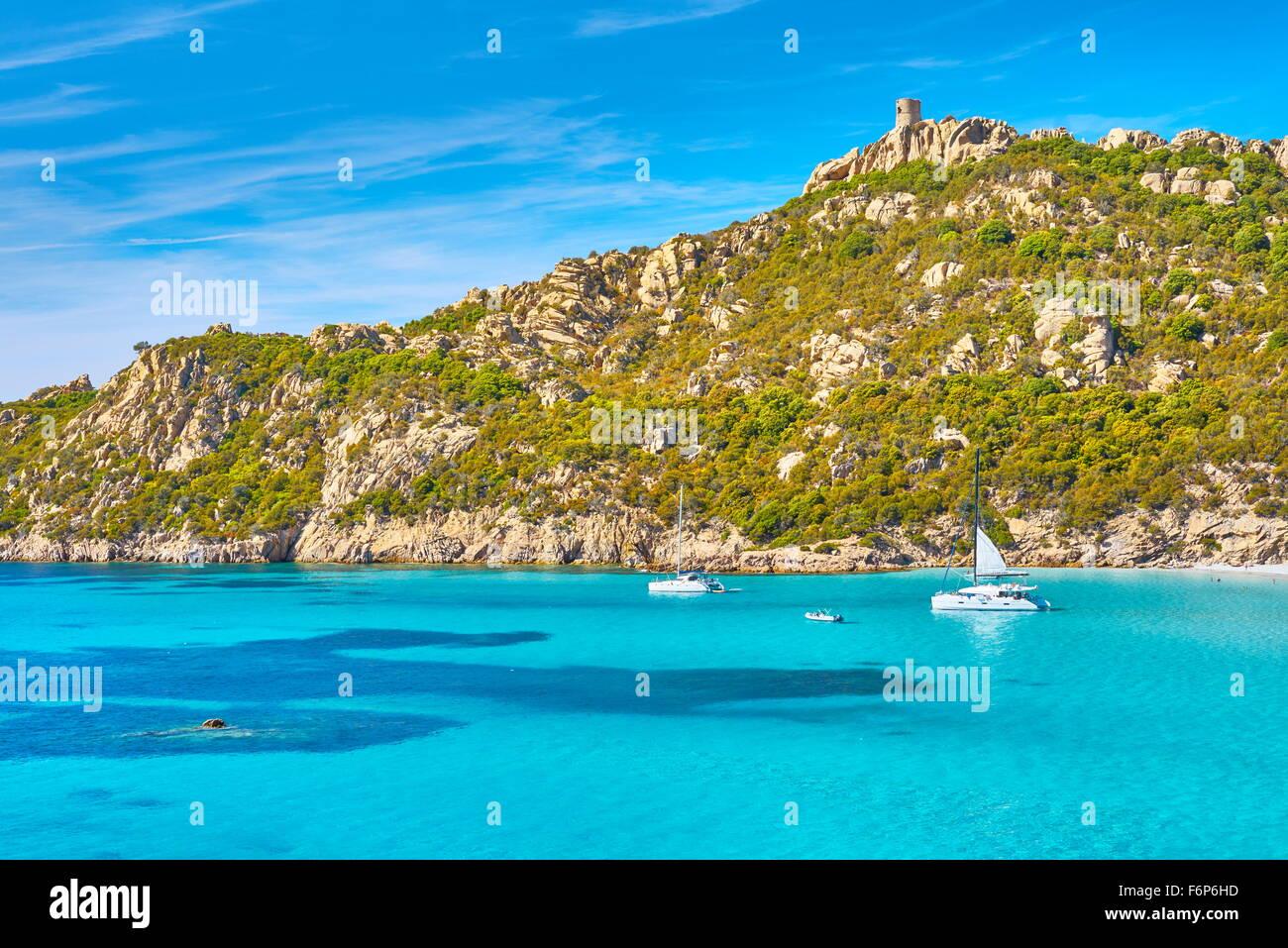 Strand von Roccapina, Golfe de Roccapina, Südwestküste, Korsika, Frankreich Stockbild