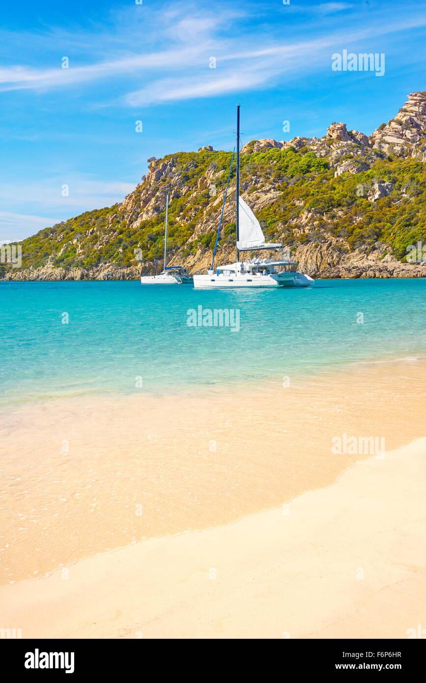 Strand von Roccapina, Golfe de Roccapina, Korsika, Frankreich Stockbild