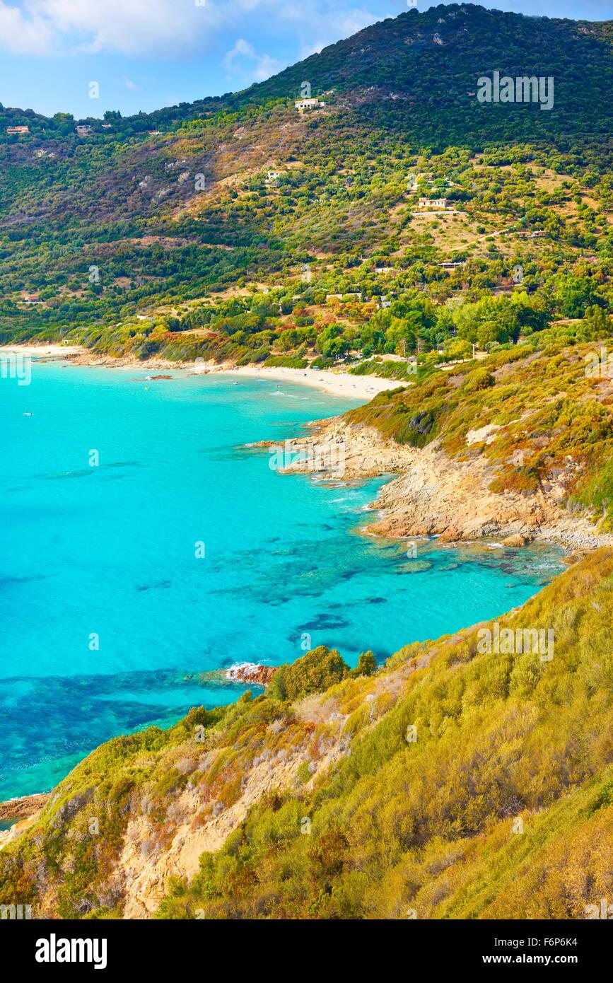 Golfe de Sagone, Westküste, Korsika, Frankreich Stockbild