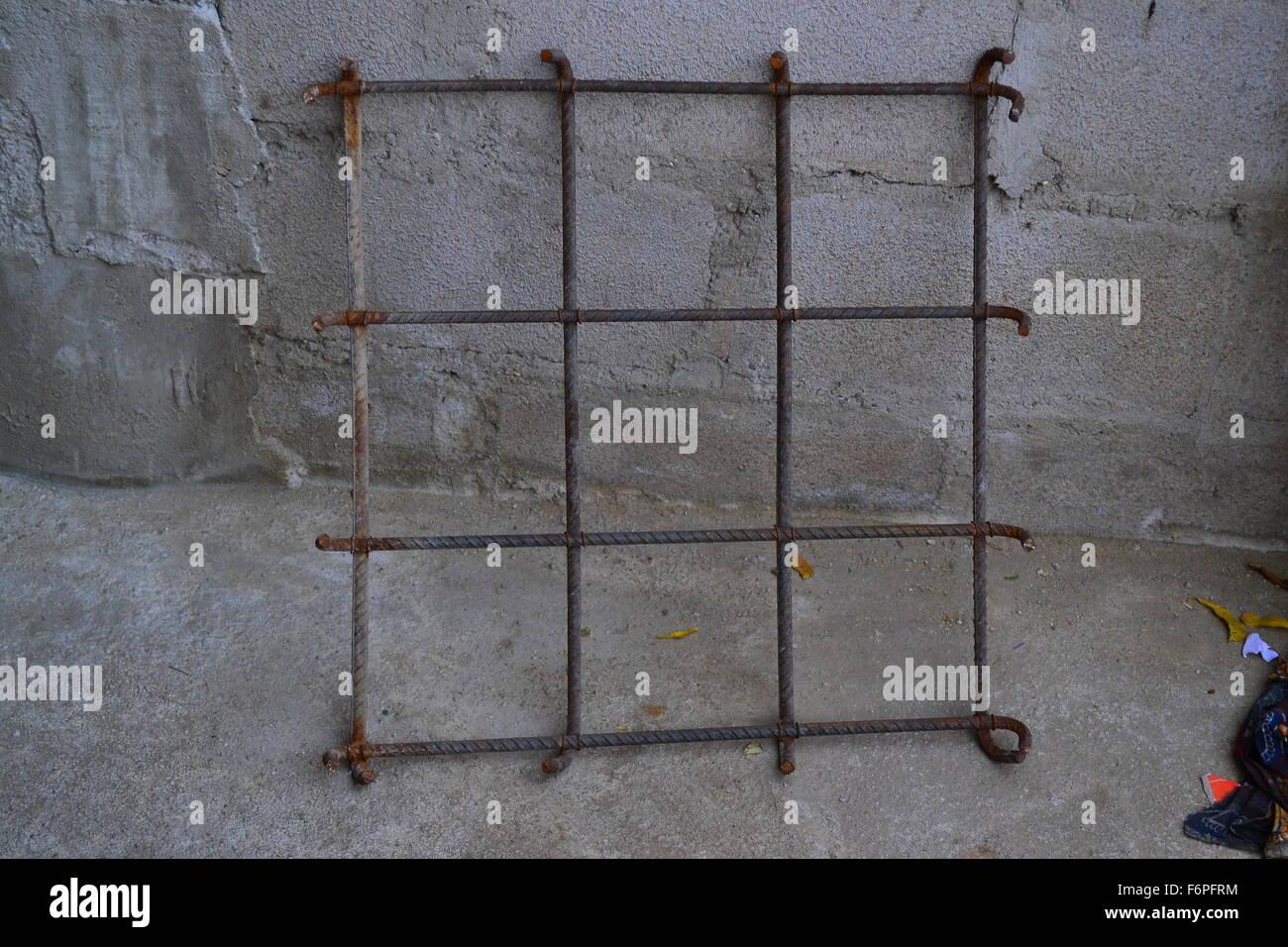 Eiserne Gitter verwendet für Platte und Beton Balken Stockfoto, Bild ...