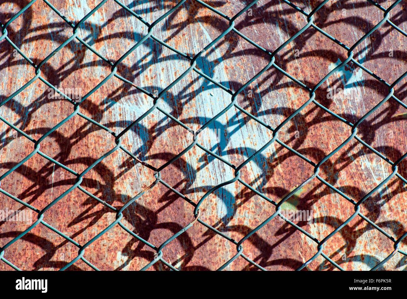 grafische muster erstellt von drahtgeflecht hurrikan oder zyklon stahl zaun - Grafische Muster