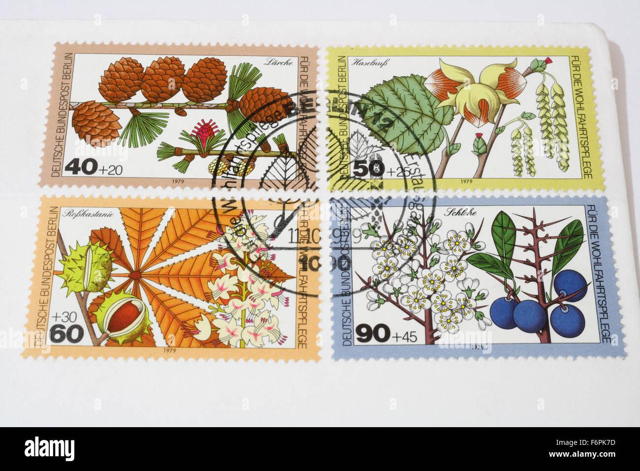 Ersten Tag Deutsche Deutsche Bundespost Berlin Briefmarken Von 1979