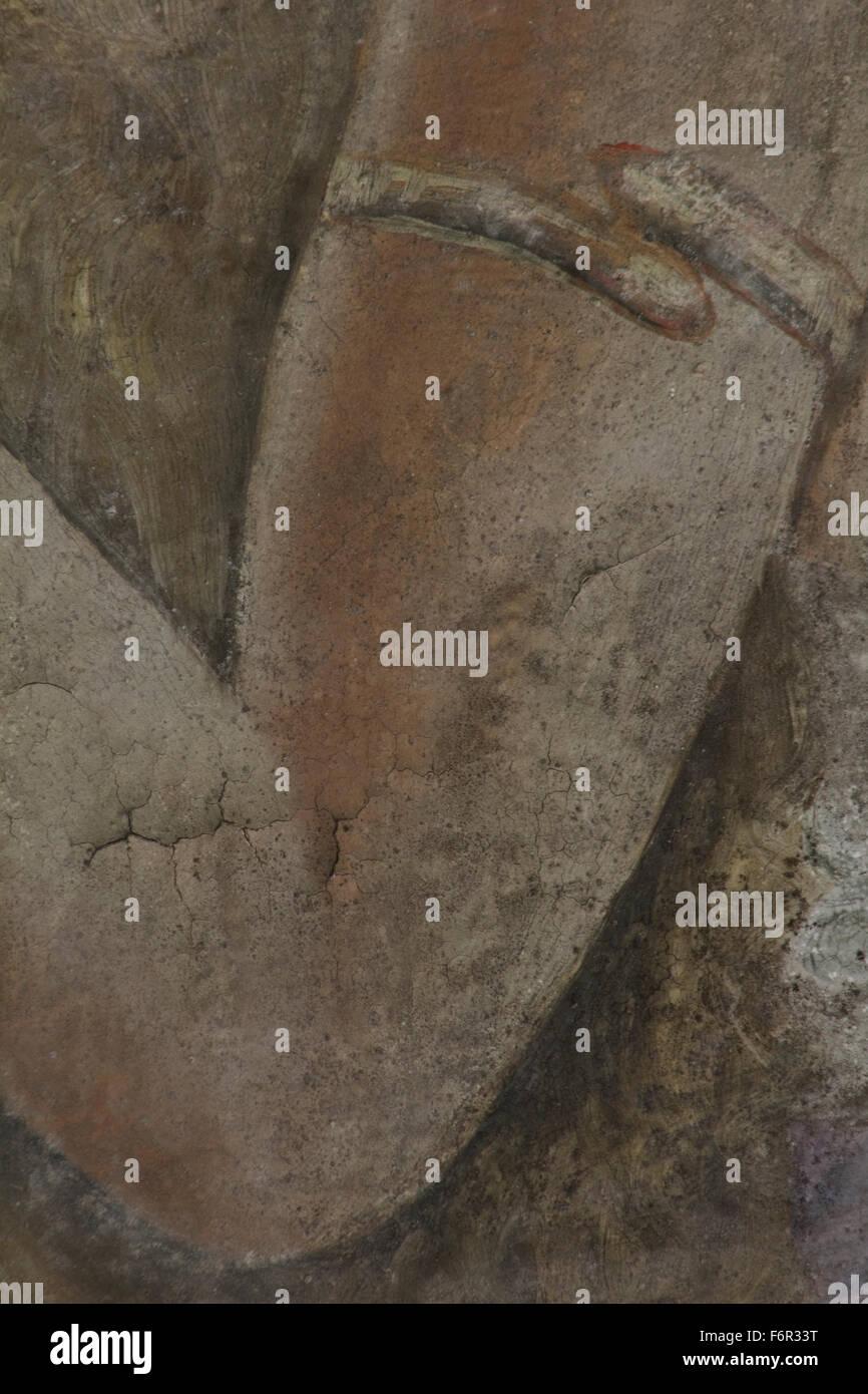 Strukturierte Wandmalerei Schicht Makro Bestätigungsbrief von der ...