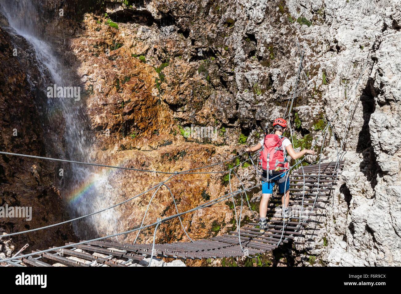 Vallon Klettersteig : Klettersteig cesare piazzetta am piz boe youtube