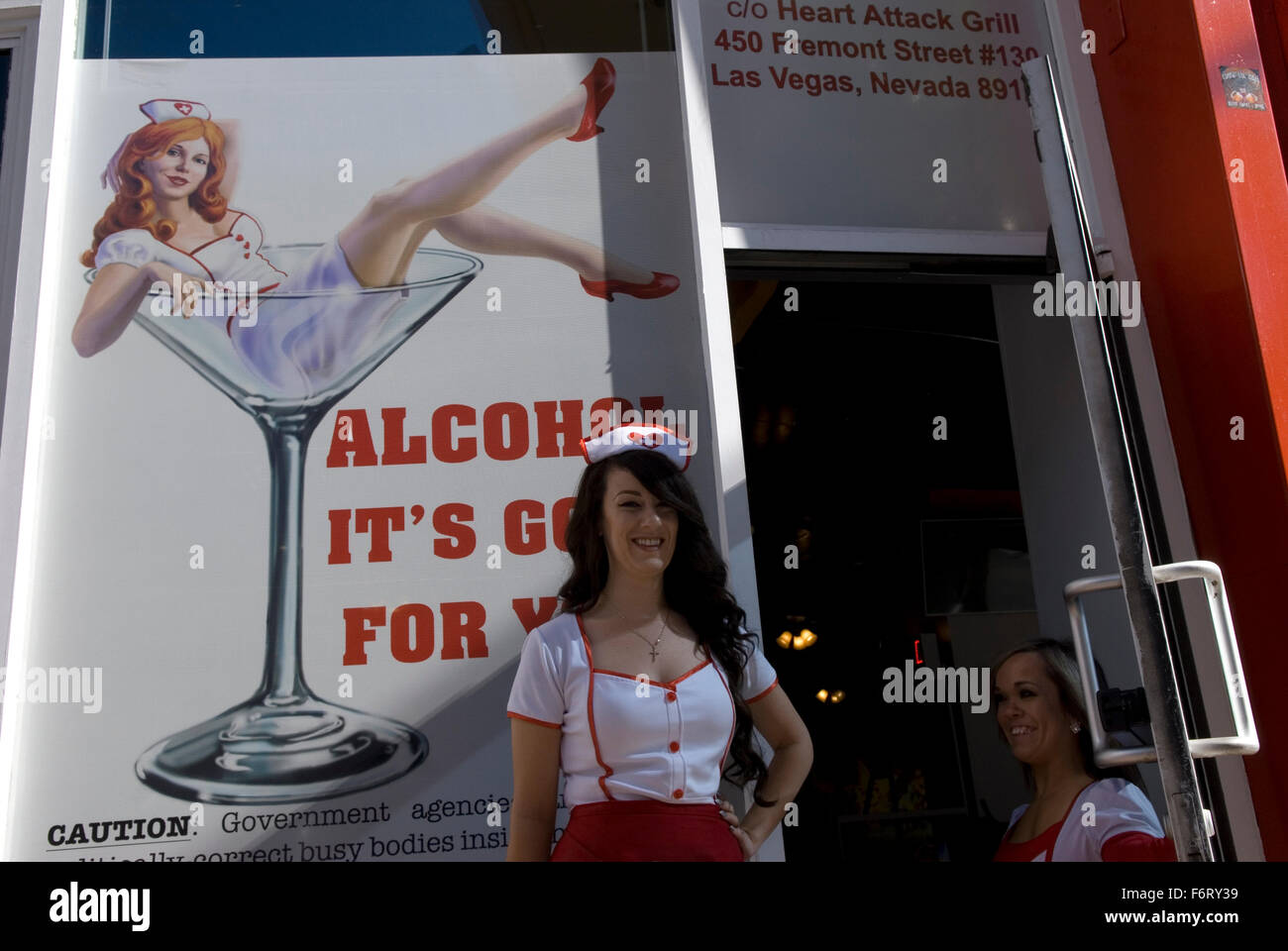 Heart Attack Grill Fremont St. Las Vegas Nevada, USA Stockfoto