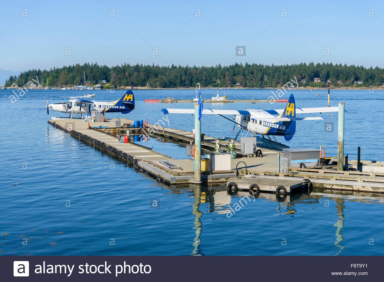 Harbour Air Float Flugzeuge, Nanaimo Terminal, Nanaimo, British Columbia, Kanada Stockbild