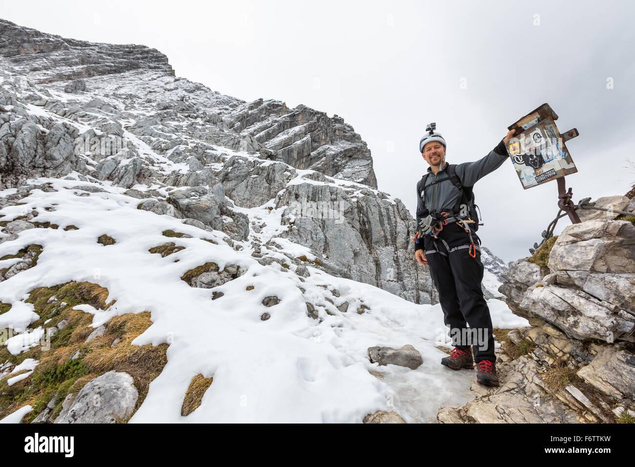 Klettersteig Alpspitze : Auf alpspitze klettersteig garmisch partenkirchen deutschland