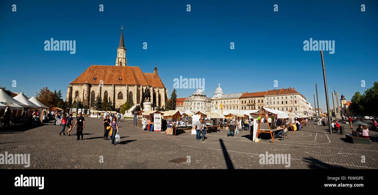 Piata Unirii, Cluj-Napoca, Siebenbürgen, Rumänien