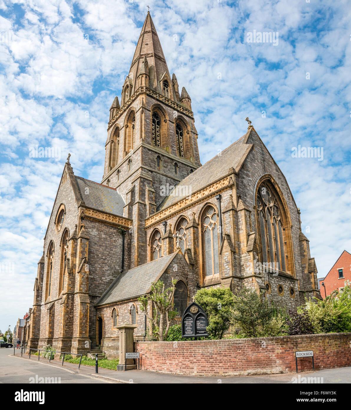 St. Michael und alle Engel Kirche auf Mount Dinham, Exeter, Devon, UK Stockbild