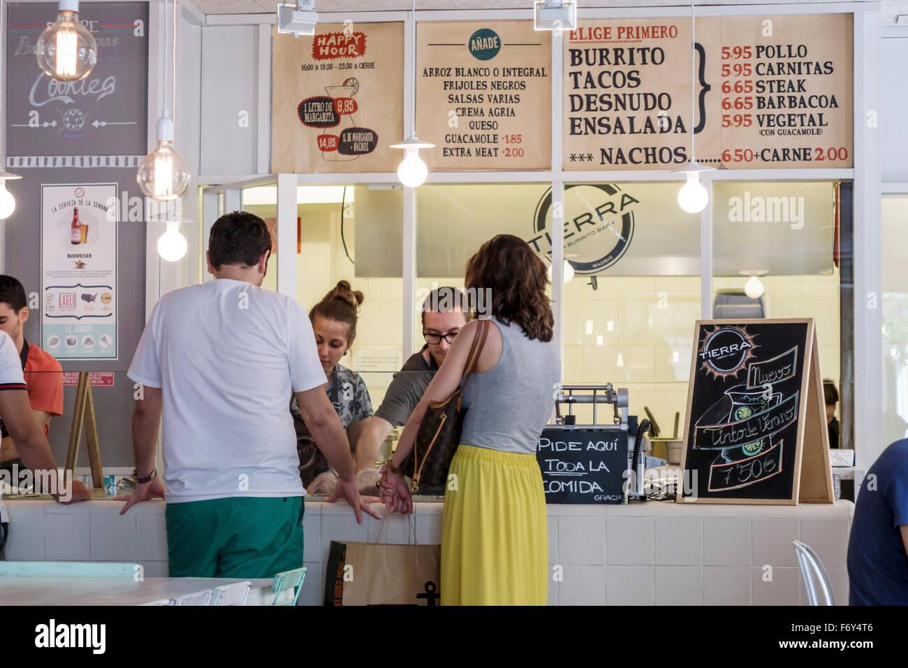 Tierra Burrito Bar Stockfotos & Tierra Burrito Bar Bilder - Alamy
