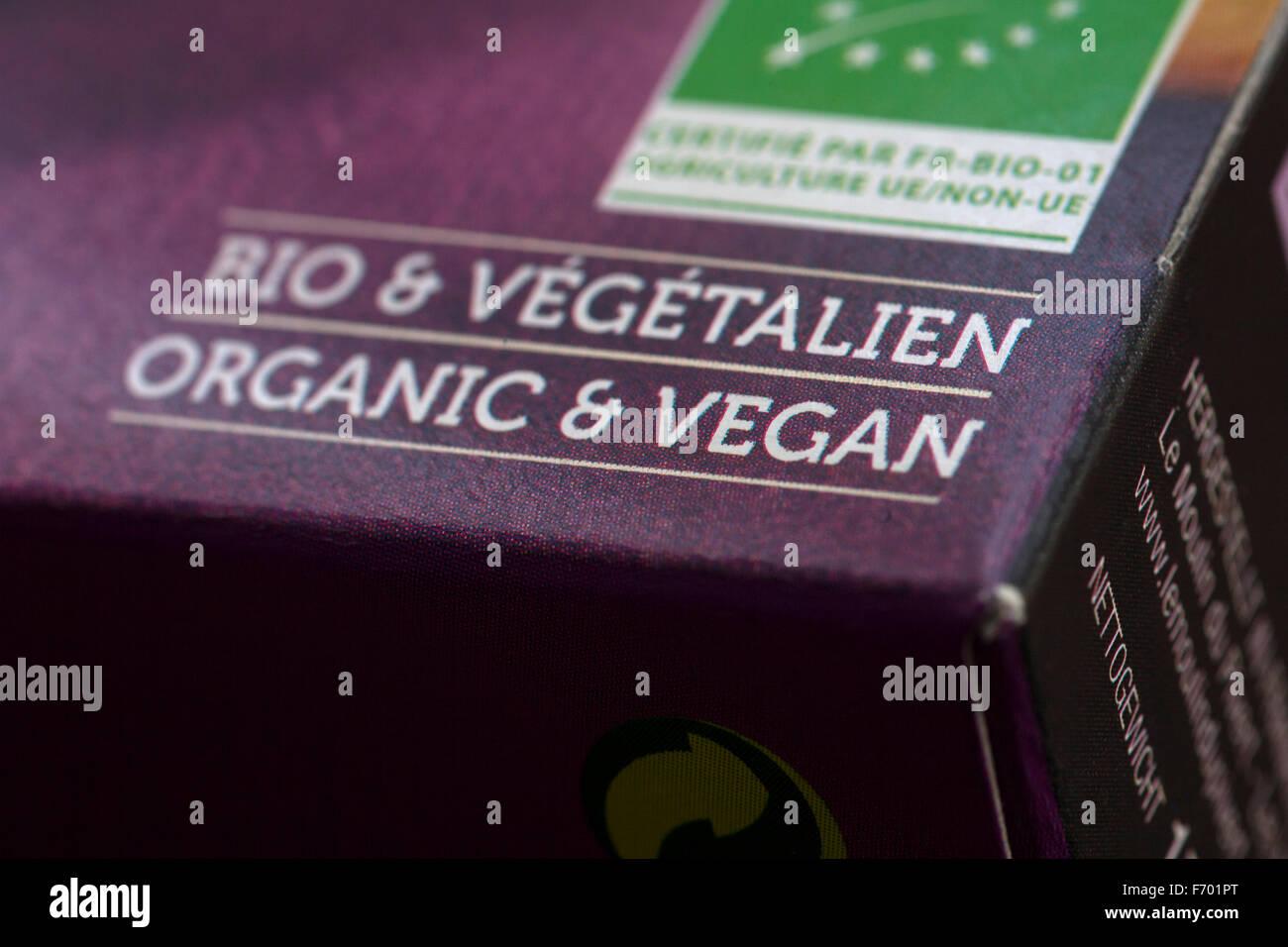 Französische veganes Produkt Stockbild