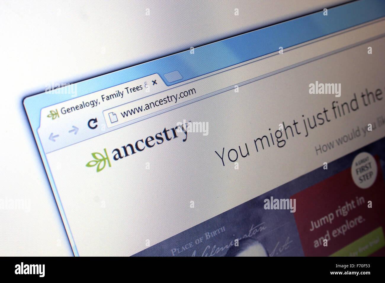 Ancestry.com Stockbild