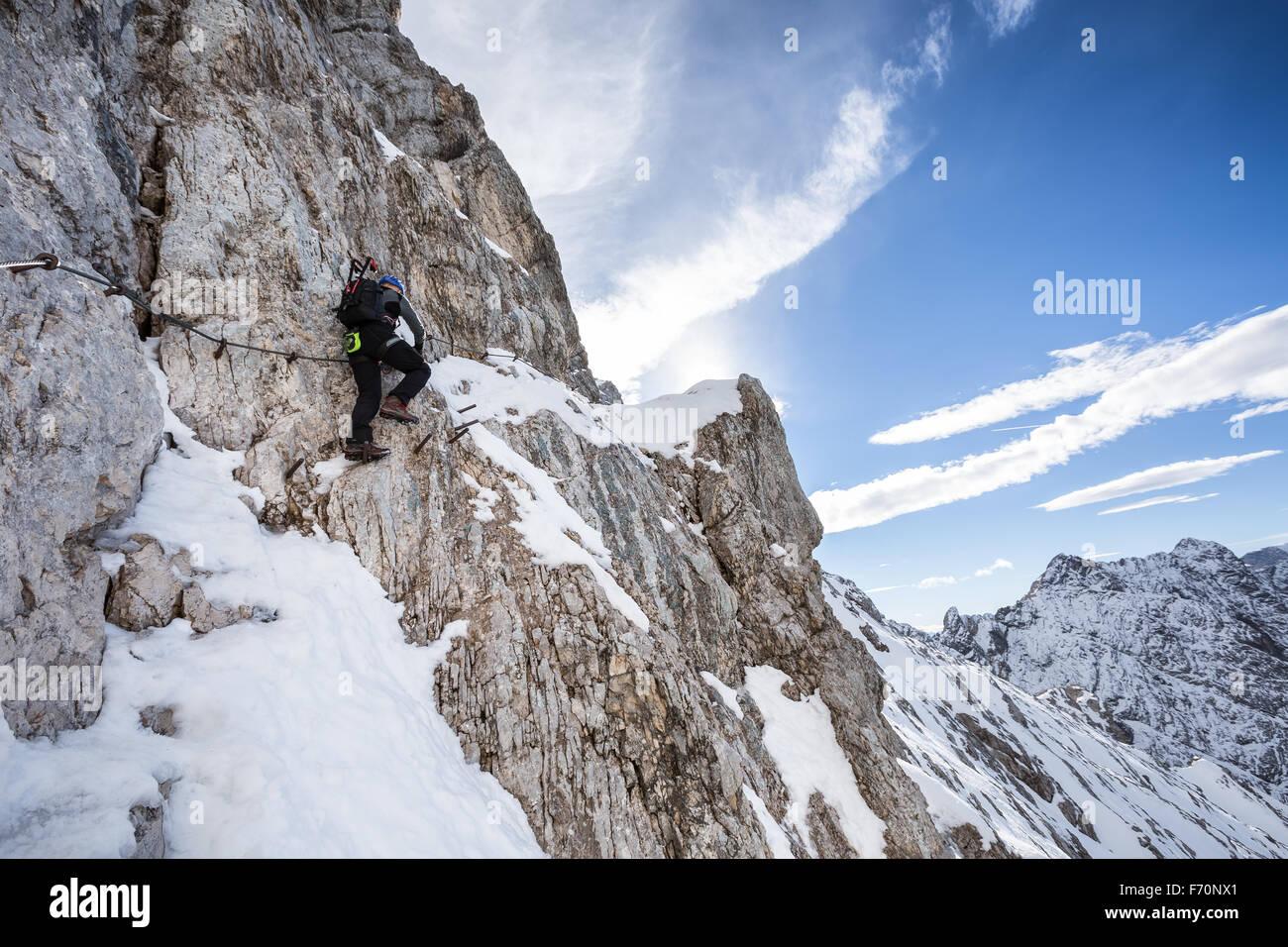 Klettersteig Deutschland : Auf alpspitze klettersteig garmisch partenkirchen deutschland