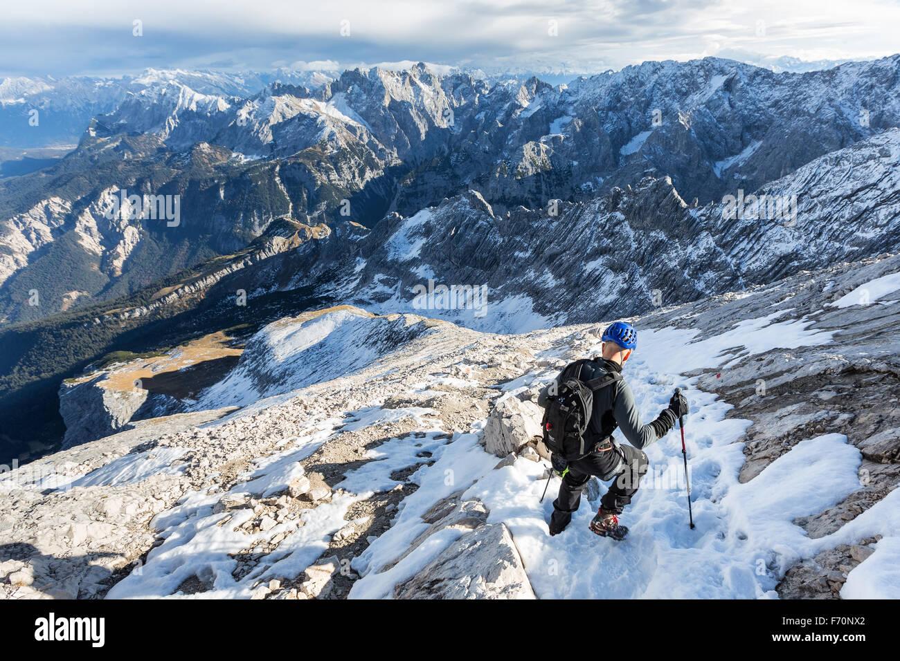 Klettersteig Garmisch : Auf alpspitze klettersteig garmisch partenkirchen deutschland