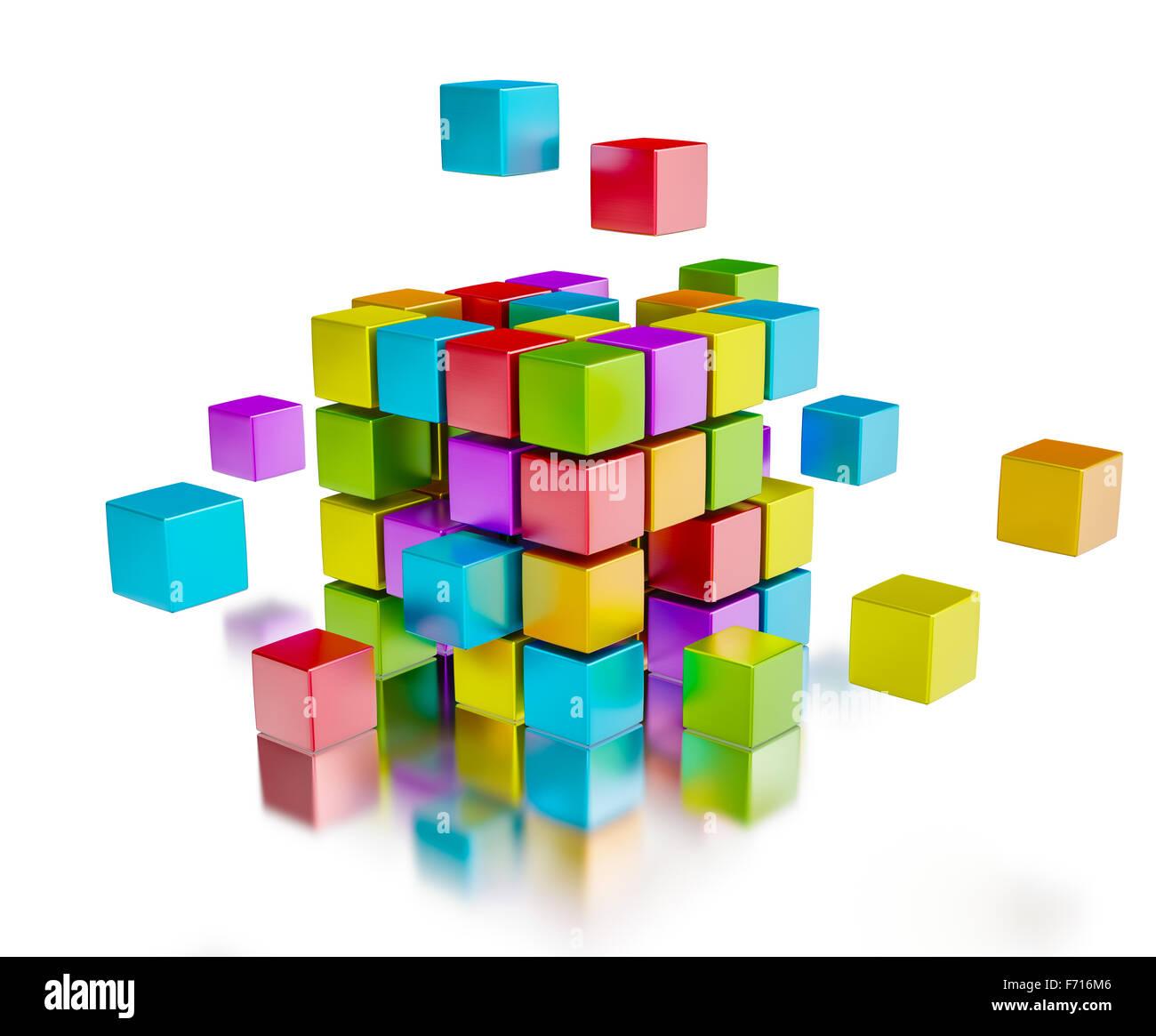 Business-Teamarbeit-Internet-Kommunikations-Konzept Stockbild