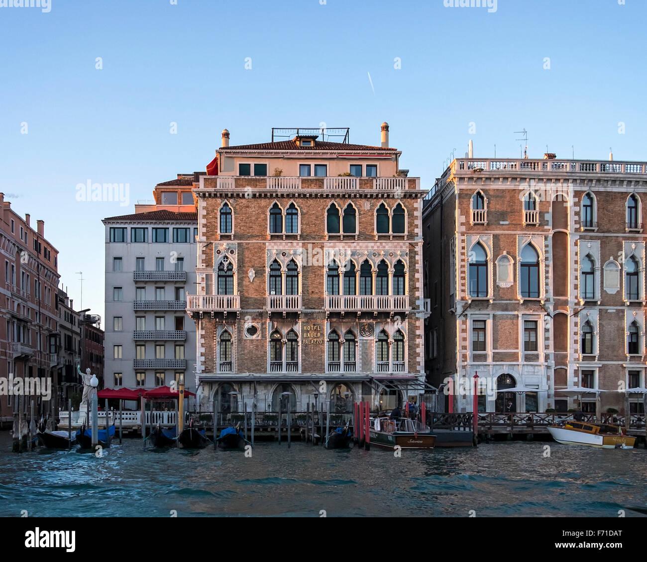 Italien Venedig Funf Sterne Hotel Bauer Nach Aussen Eleganten
