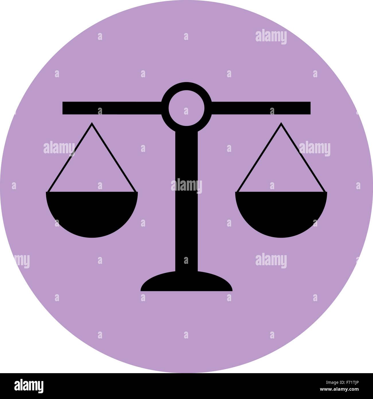 Waage-Symbol Gleichgewicht. Gerechtigkeit und Gleichheit, Recht ...