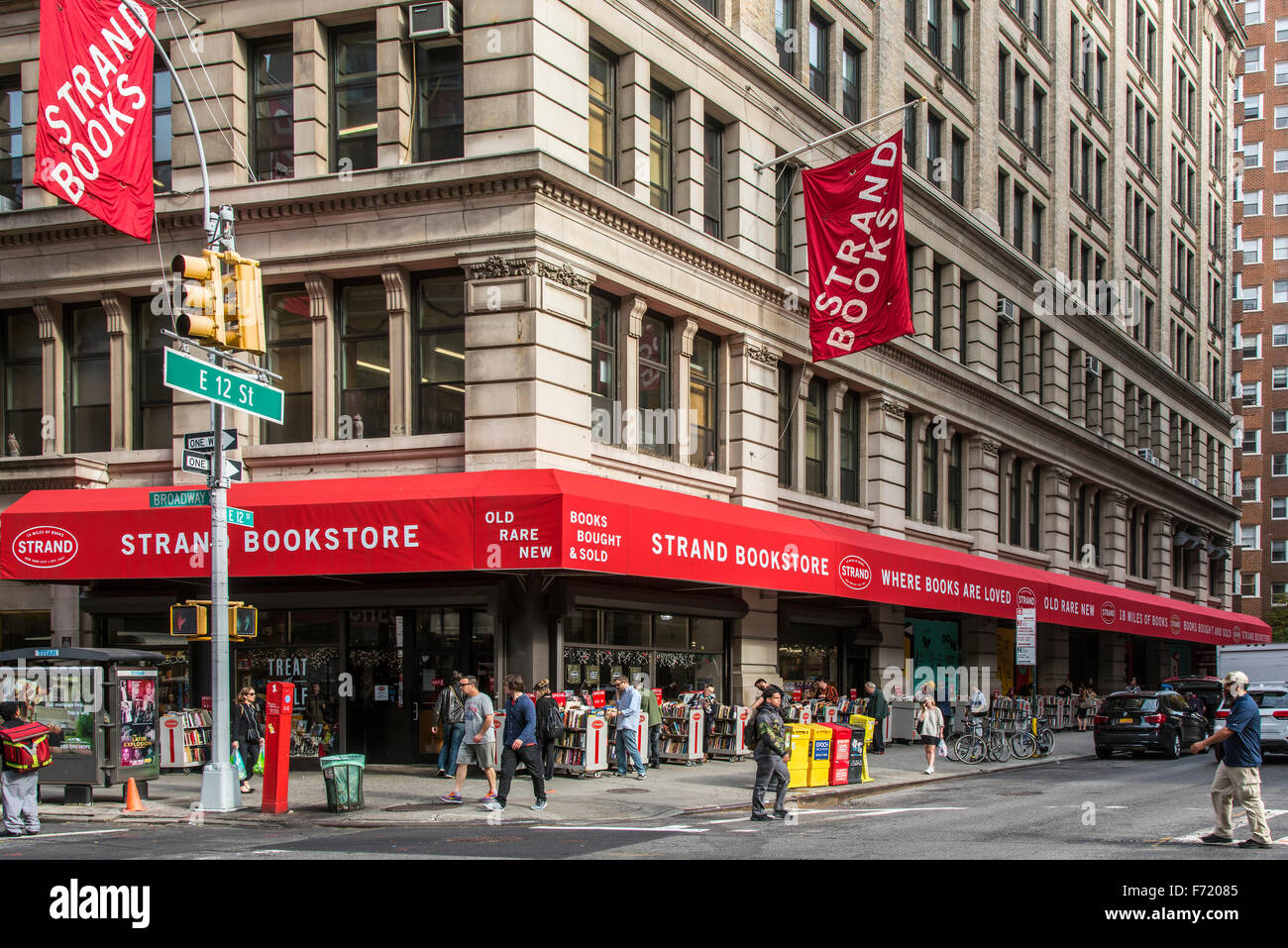 Aktionsbereich Buchhandlung, East Village, Manhattan, New York, USA Stockbild