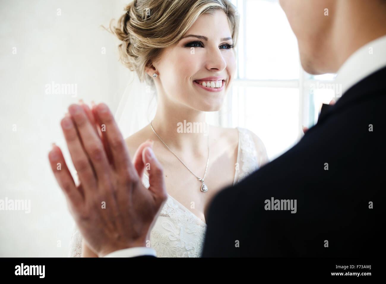 paar auf weißem Hintergrund Stockbild