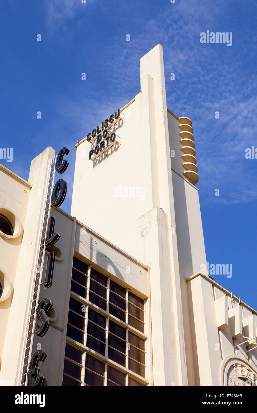 Deco Architektur das renommierte theater coliseu porto und seine portugiesischen