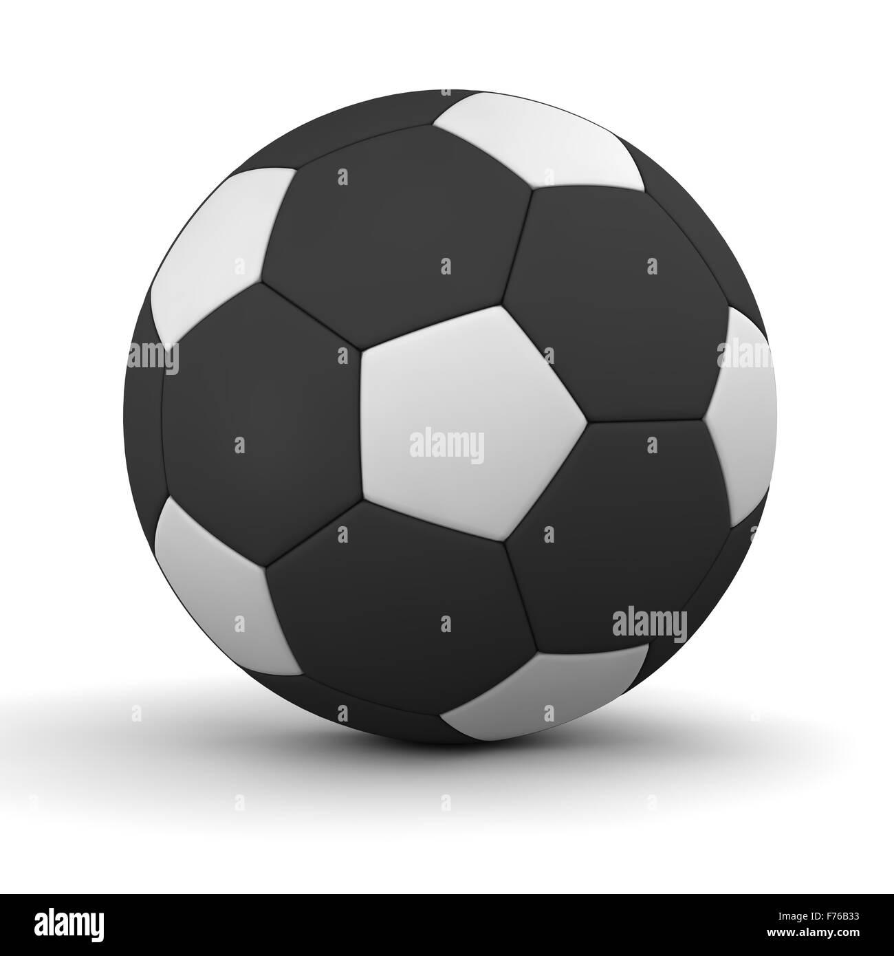 Klassische Fußball in weiß und schwarz - Inverse Farben Stockfoto ...
