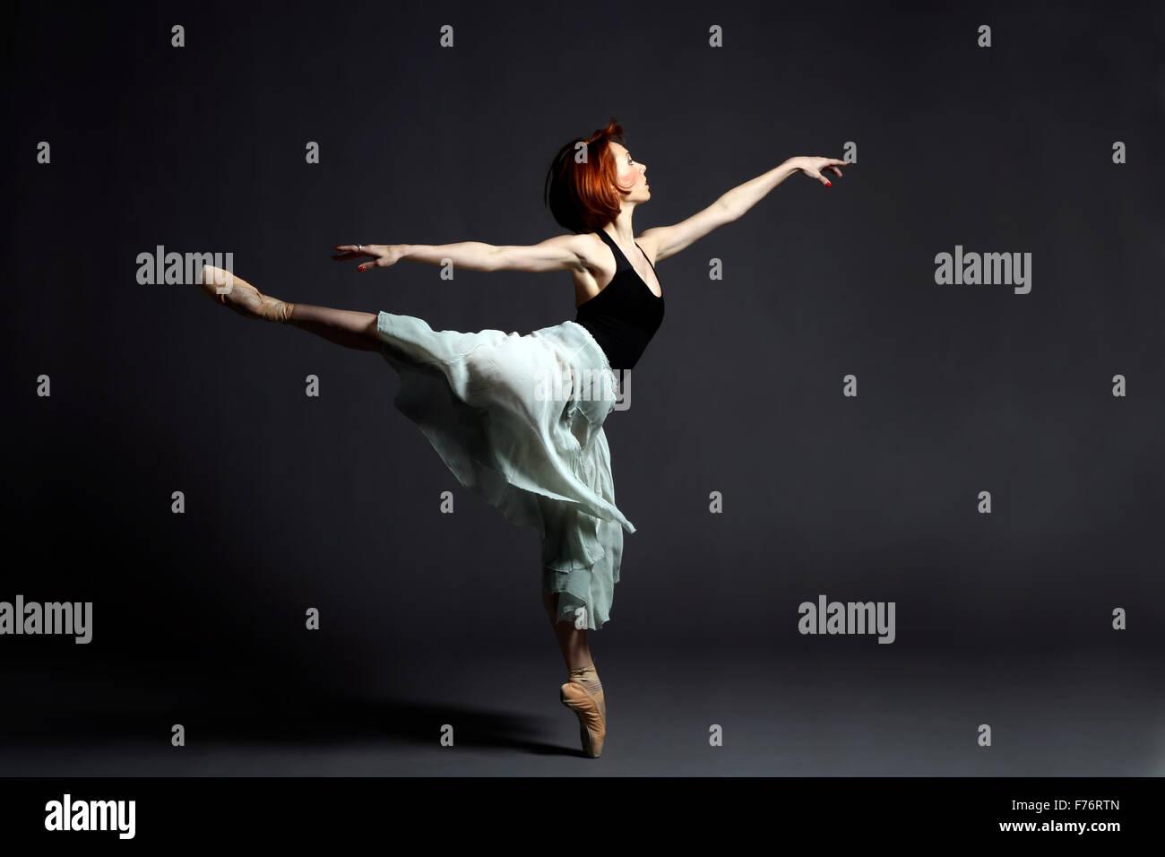 Ballett-Tänzerin auf der Bühne Stockbild