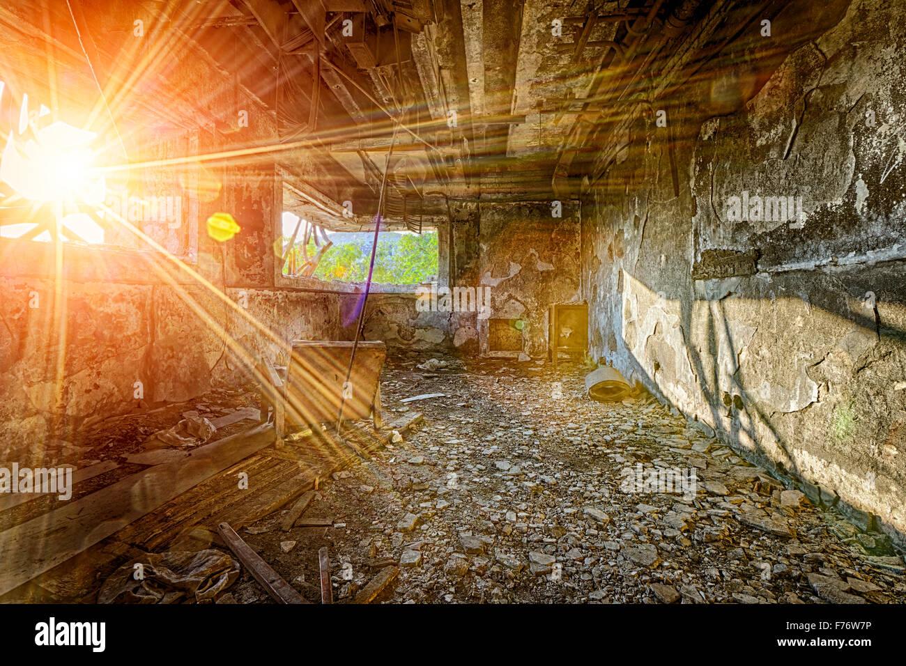 Tag Des Jüngsten Gerichts Zerstörung Ruinen Werk Schaden Stockfoto
