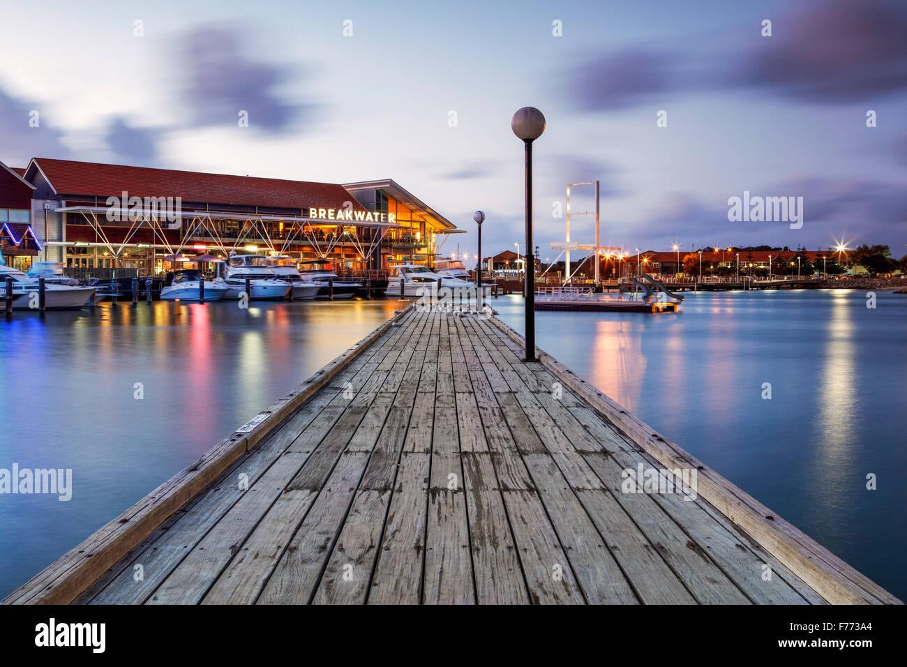 Die Sorrento Quay, Hillarys Boat Harbour, Western Australia. Stockbild