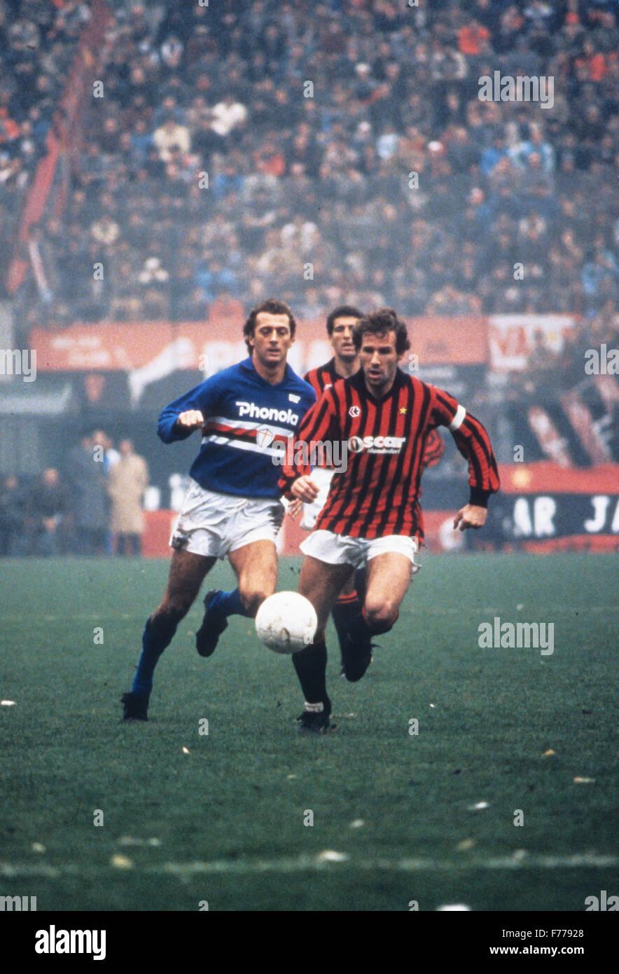 Franco Baresi, 1985 Stockbild