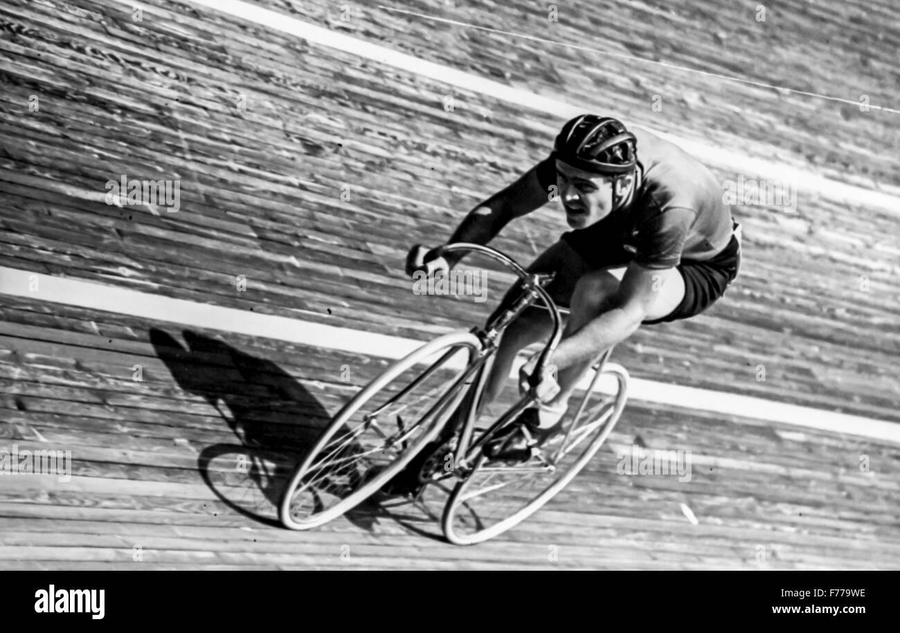 Bahnrad, 50er Jahre Stockbild