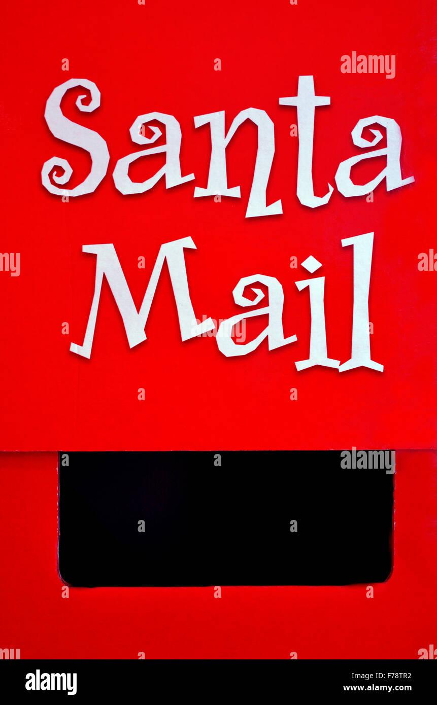 Santa Claus Briefkasten in Weihnachtsurlaub (Xmas). Konzepte und ...