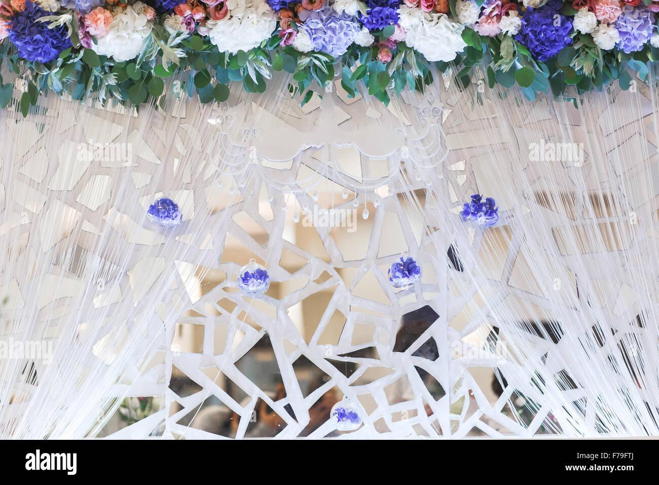 Fragmente Von Dekorativer Spiegel Die Dekoration Auf Der Hochzeit