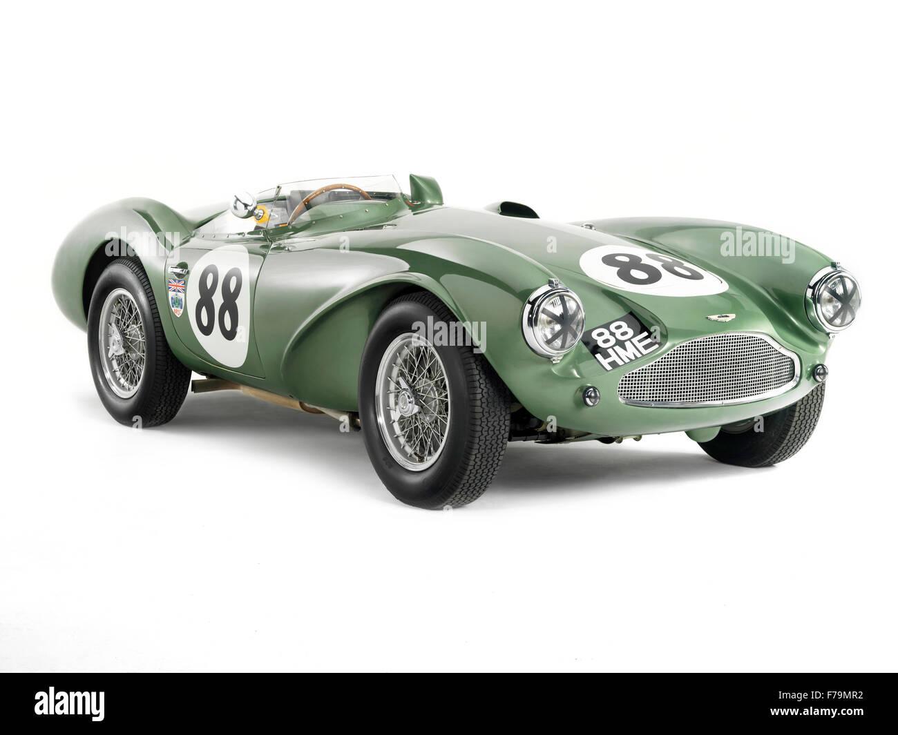 Studio Foto von Aston Martin DB3s Sportwagen. Weißem Hintergrund Stockbild