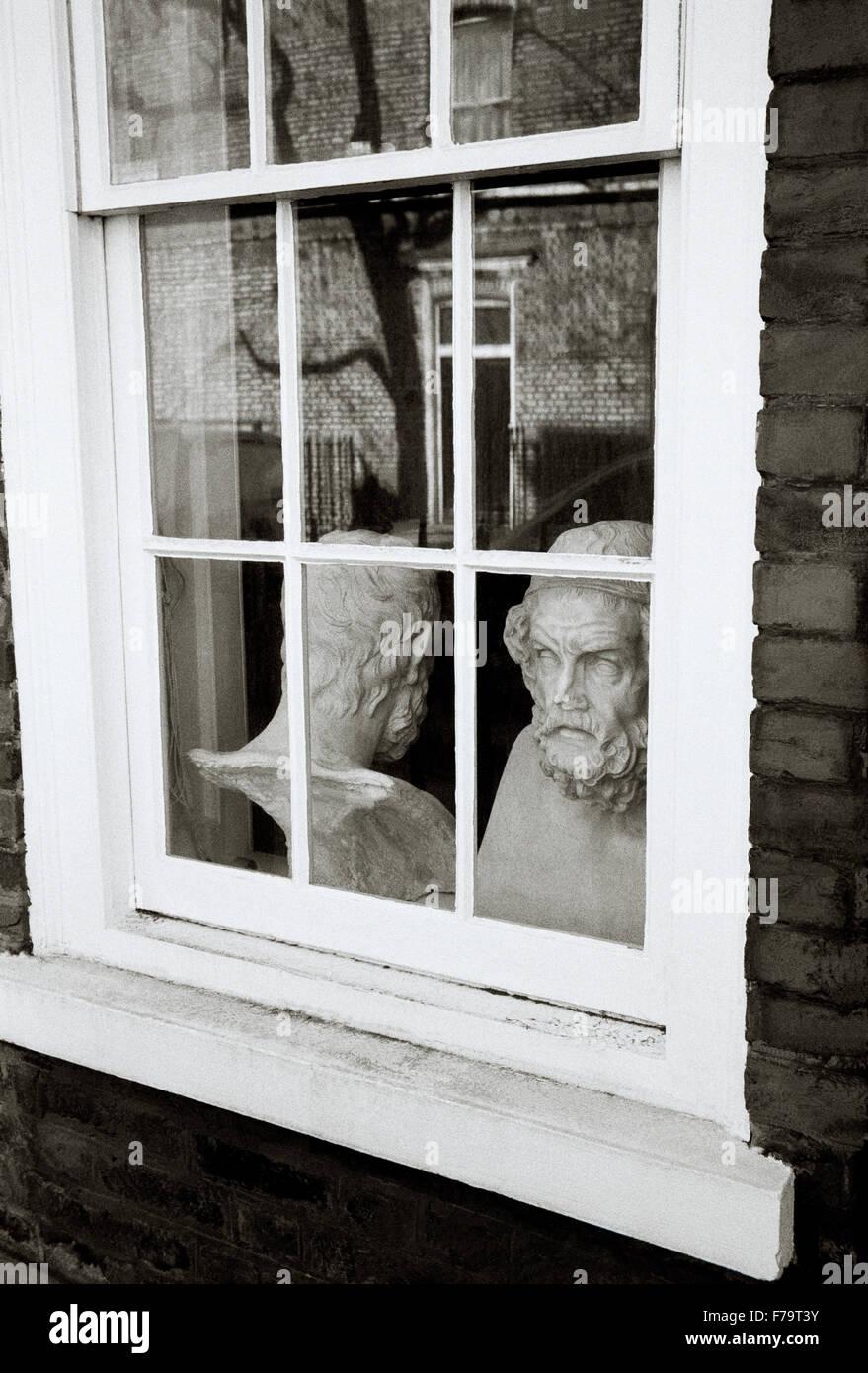 London in England in Großbritannien im Vereinigten Königreich Großbritannien. Kopf Philosophie Philosoph Stockbild