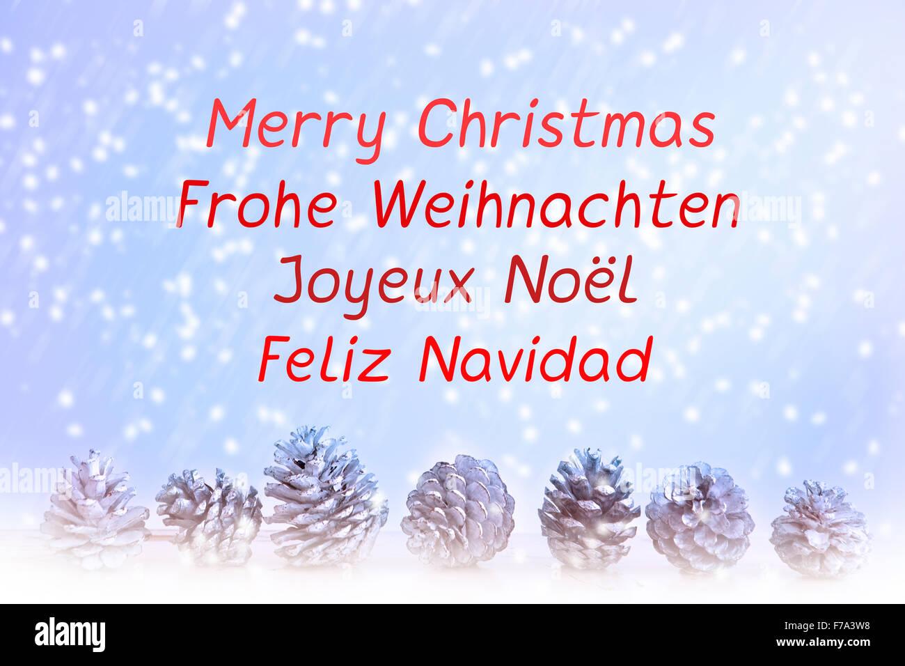 Frohe Weihnachten Geschrieben Englisch Spanisch Deutsch