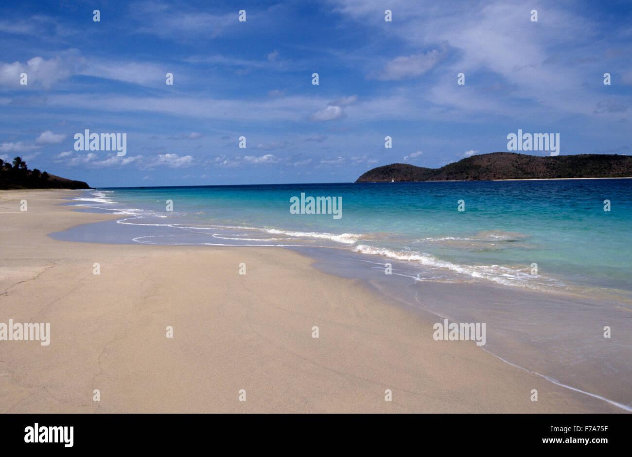 Ruhig Zoni Strand auf Culebra, Puerto Rico Stockfoto