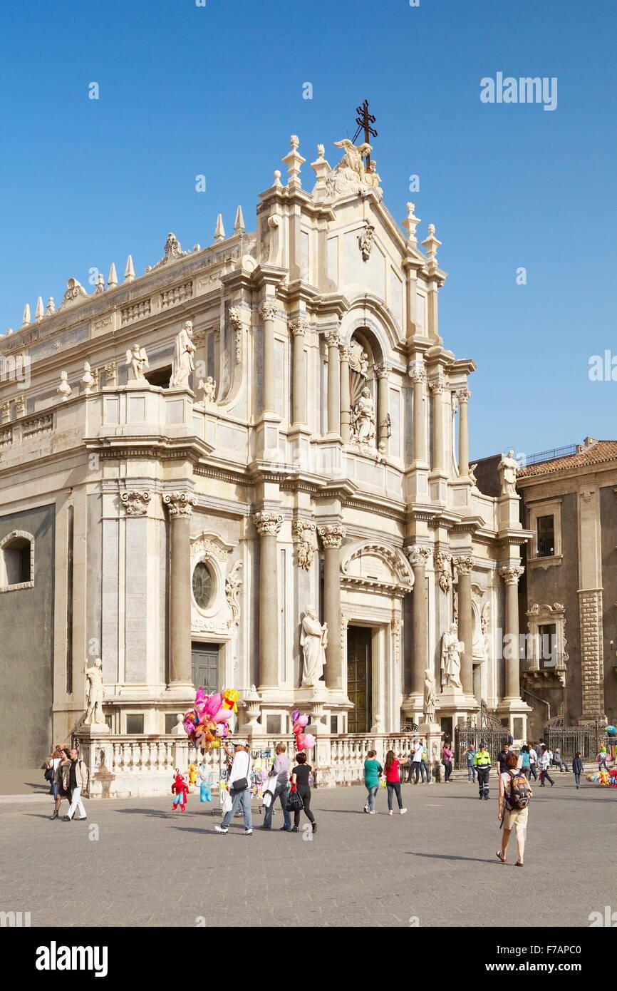 Catania-Kathedrale Sant Agata, Piazza Duomo, Catania, Sizilien, Italien Stockbild