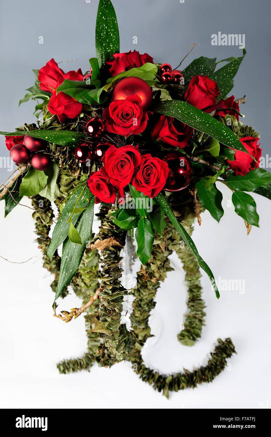 Schönheit, Blumenstrauß, Blumen, Blütenblätter, Rosen, Weihnachten ...