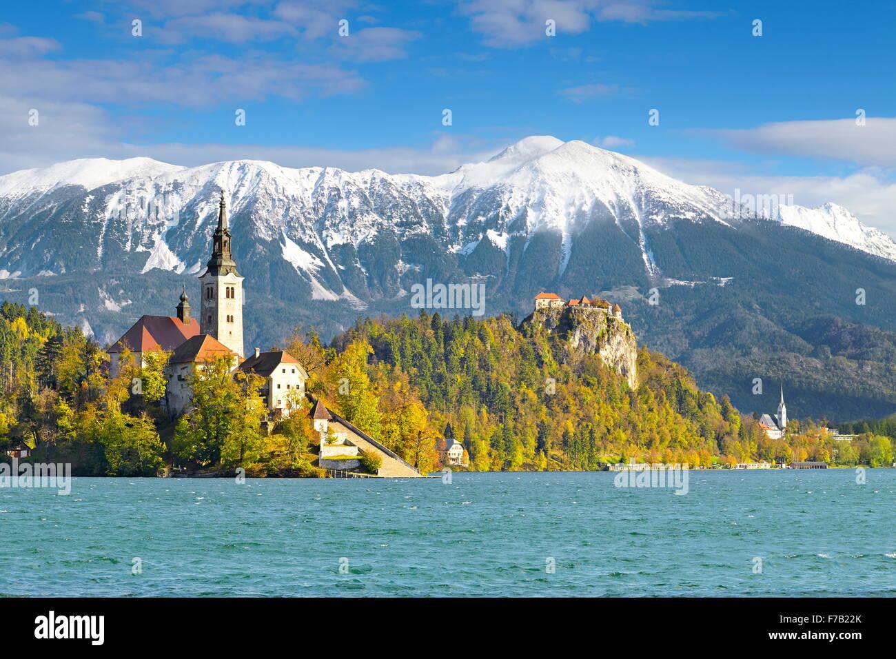 Slowenien Julische Alpen - Bled Stockbild