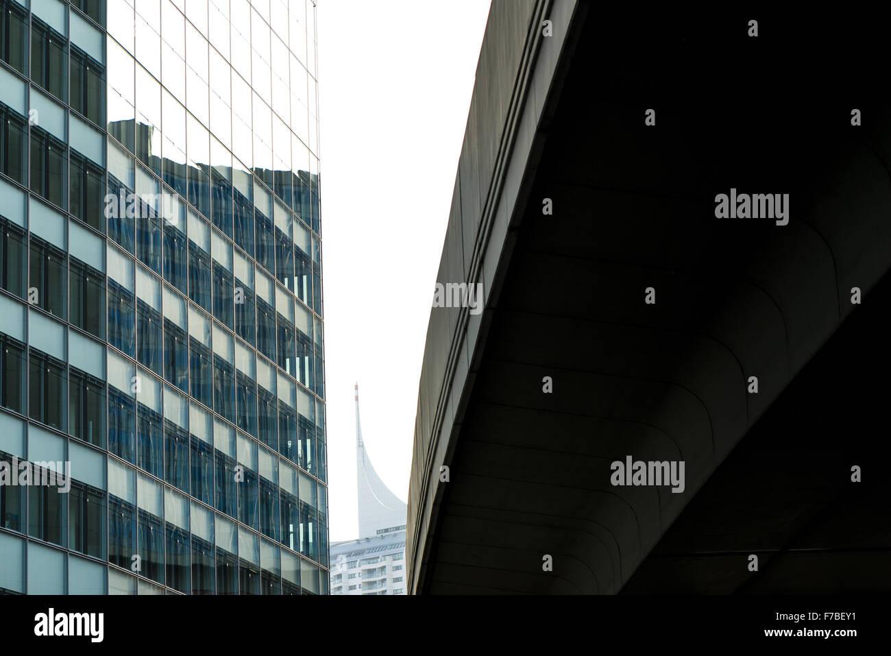 IZD Tower, Donau-City, DC, Wien, Österreich Stockbild
