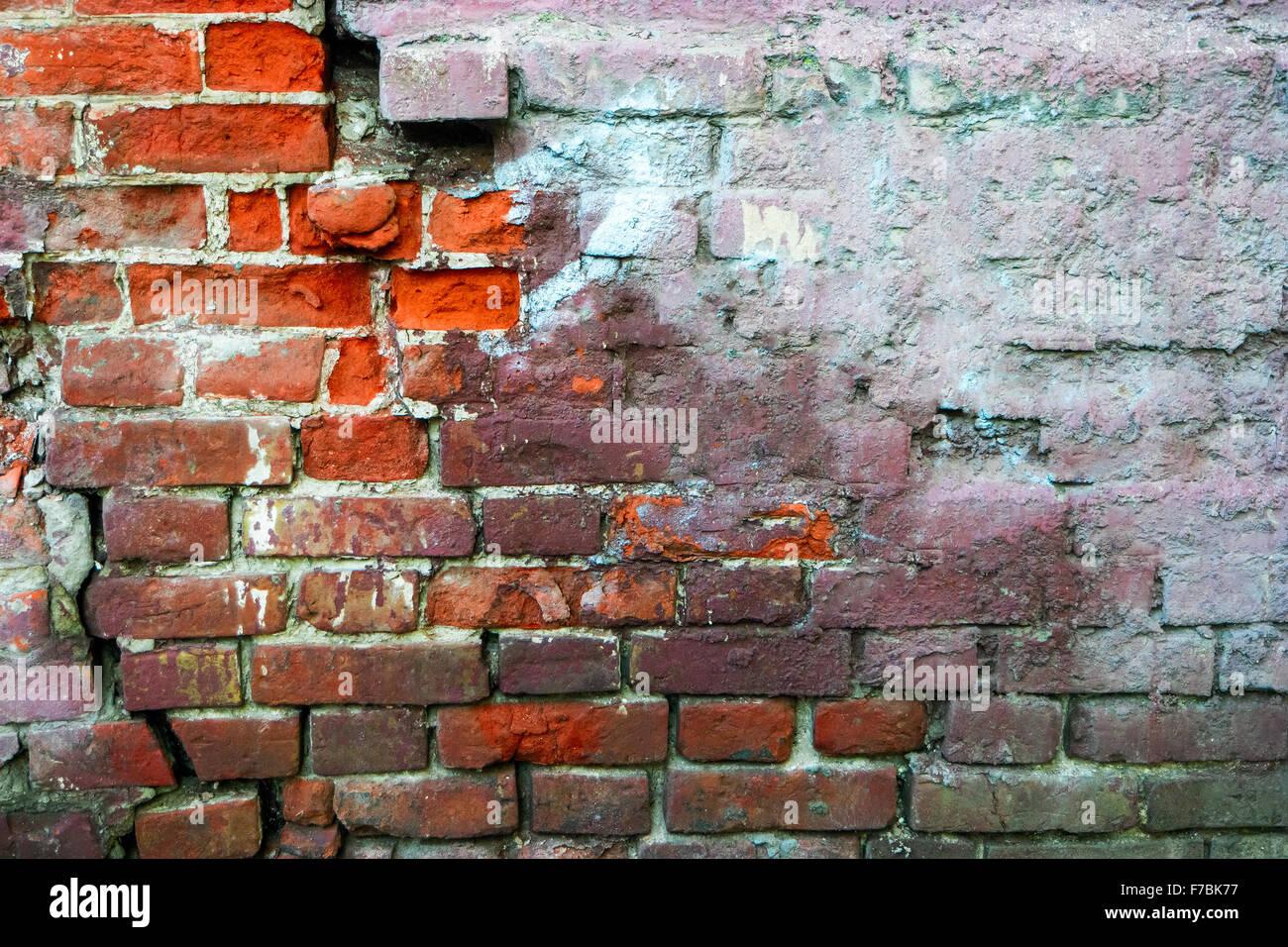 Roten Backsteinmauer bedeckte die Hälfte mit Betonrahmen für Design ...