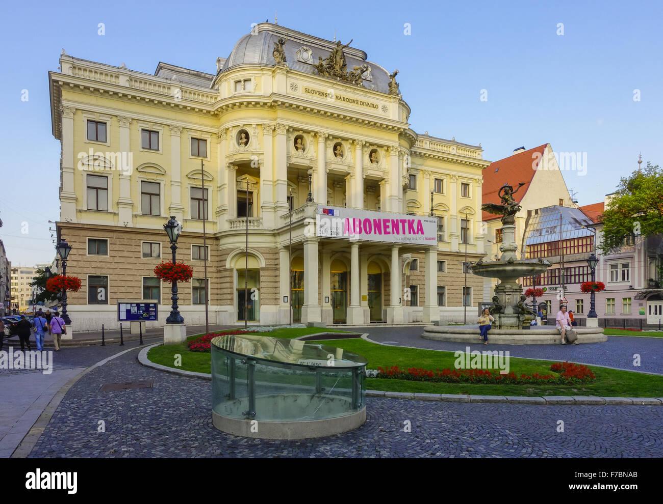 Slowakei, Bratislava, Pressburg, Hauptstadt, Nationaltheater Stockbild
