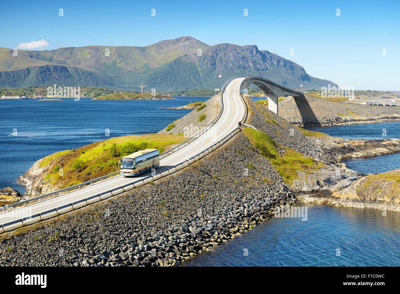 Die Atlantic Road mehr Og Romsdal, Norwegen Stockbild