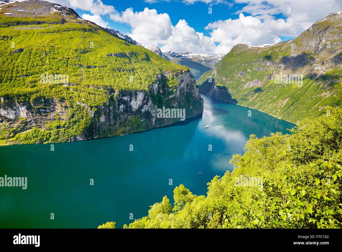 Geiranger Fjord, Norwegen Stockbild