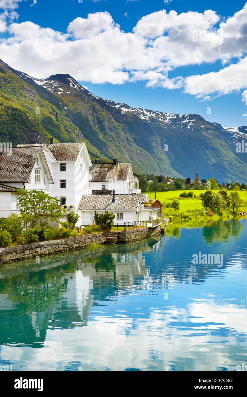 Oldedalen Tal, Norwegen Stockbild