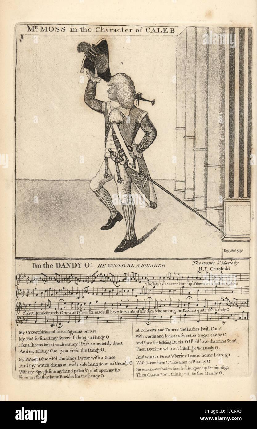 Komischer Schauspieler Herr William Henry Moss in den Charakter von Caleb in würde er ein Soldat mit der Musik Stockbild