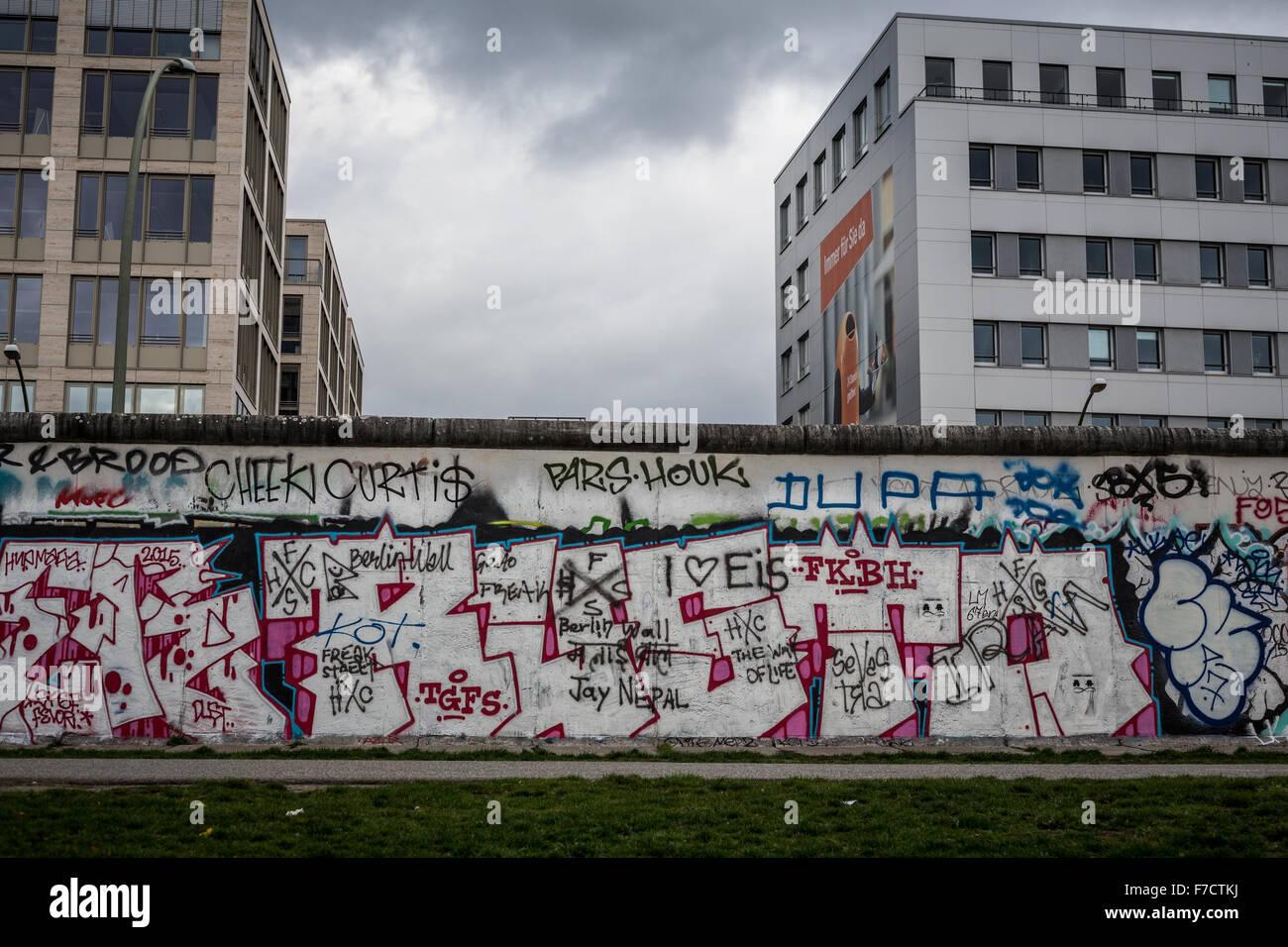 Berliner Mauer, East Side Gallery Stockbild