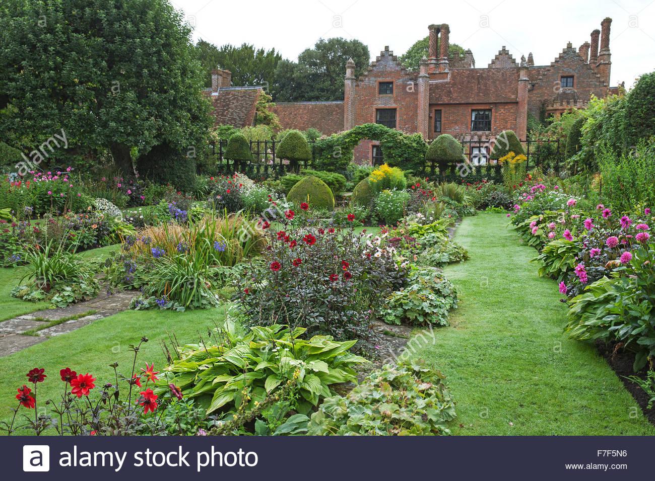 Chenies Manor House Und Gärten Englischen Garten Zeigt Die