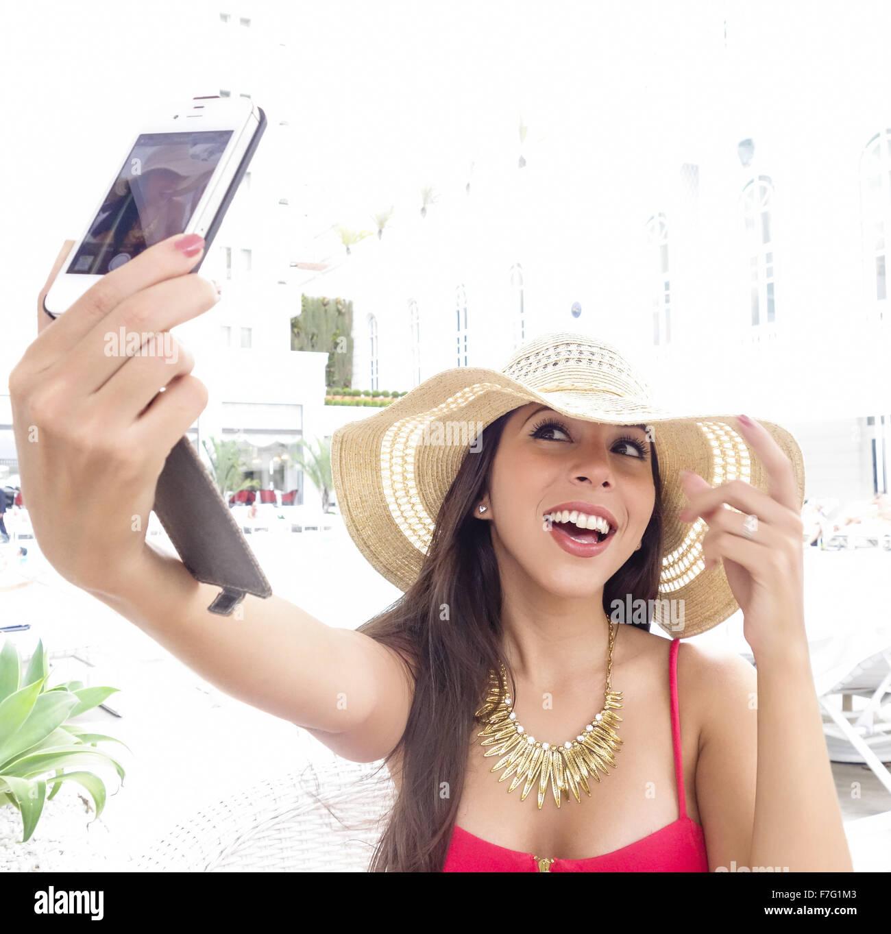 mexikanische Mädchen Selfies